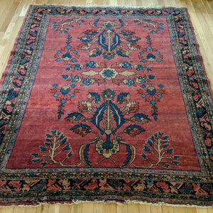 Antique Rug, 5' 2 x 6' 5 Pink