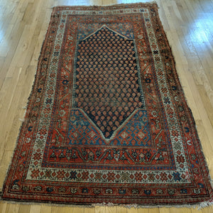 Antique Rug, 4' x 7' 4 Blue - Jessie's Oriental Rugs