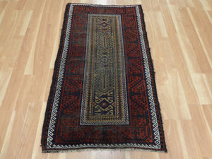 Antique Rug, 2' 10 x 5' 1 Tan Baluch