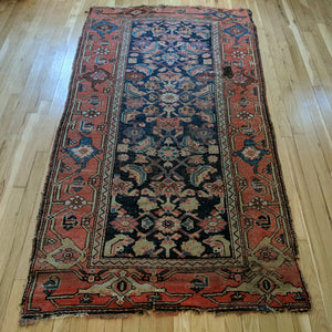 Antique Rug, 3' 7 x 6' 9 Blue - Jessie's Oriental Rugs