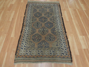 Antique Rug, 3' 4 x 5' 11 Brown Baluch - Jessie's Oriental Rugs