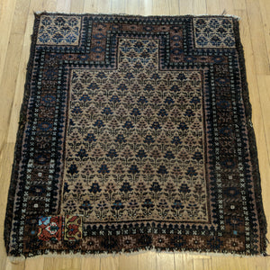 Antique Rug, 2' 8 x 3' 2 Tan - Jessie's Oriental Rugs