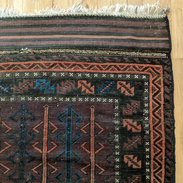 Antique Rug, 3' 10 x 6' 4 Tribal