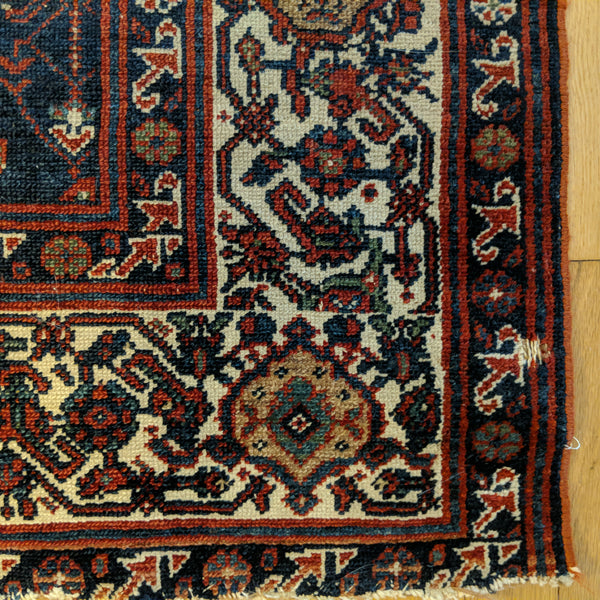 Persian Rug, 4' 4 x 6' 5 Blue Melayer - Jessie's Oriental Rugs