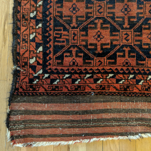 Antique Rug, 3' 1 x 5' Brown Tribal - Jessie's Oriental Rugs