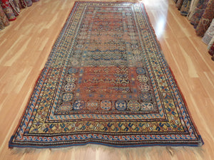 Antique Turkish Rug, 5' 6 x 11' 10 Brown
