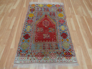 Turkish Rug, 3' 6 x 5' 11 Red Prayer