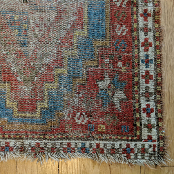 Antique Rug, 2' 8 x 3' 2 Red Turkish - Jessie's Oriental Rugs