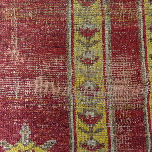 Antique Turkish Rug, 3' 8 x 5' 4 Red Prayer