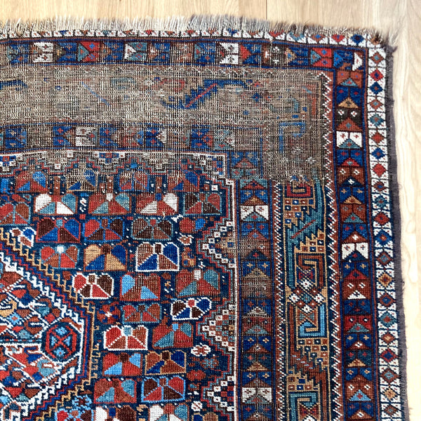 Vintage Rug, 5' 8 x 7' Blue Tribal