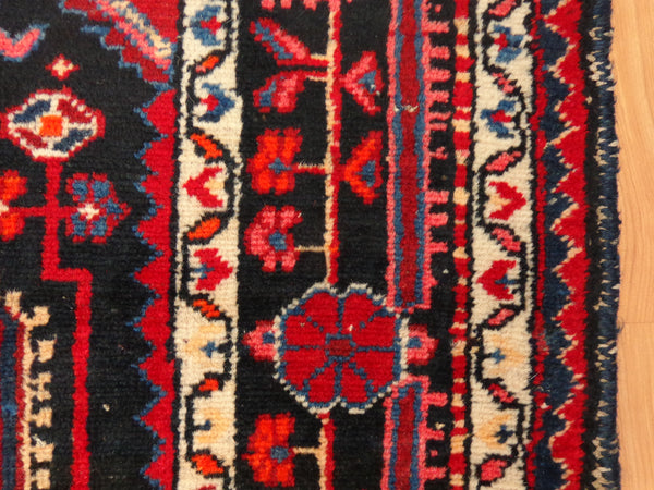 Persian Rug, 3' 10 x 6' Black Hamedan