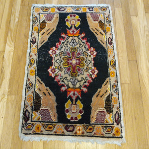 Turkish Rug, 1' 11 x 3' 2 Black - Jessie's Oriental Rugs
