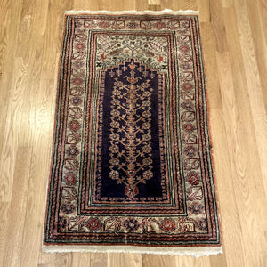 Turkish Rug, 2' 1 x 3' 5 Blue