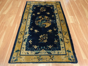 Chinese Rug, 4' 1 x 6' 9 Blue Peking