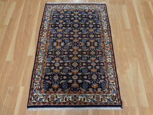 Oriental Rug, 2' 8 x 4' 2 Blue Indian Jaipur