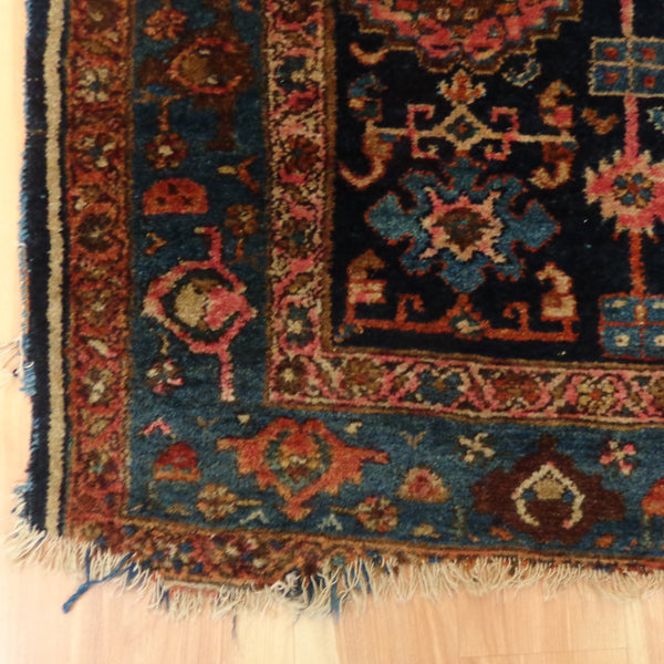 Persian Rug, 3' 10 x 6' 5 Blue Melayer - Jessie's Oriental Rugs