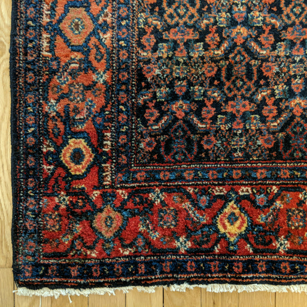 Persian Rug, 3' 7 x 4' 11 Blue Senneh