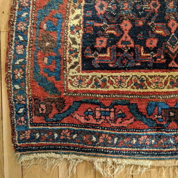 Antique Rug, 4' 5 x 7' 10 Blue - Jessie's Oriental Rugs