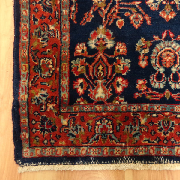 Indian Rug, 2' 6 x 8' 4 Blue Runner - Jessie's Oriental Rugs