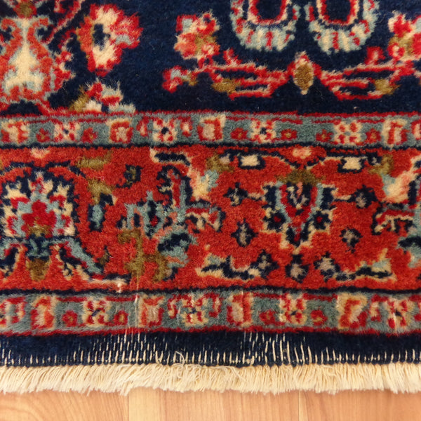 Indian Rug, 2' 6 x 8' 4 Blue Runner