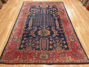 Turkish Rug 6' 4 x 9' 3 Blue Sparta