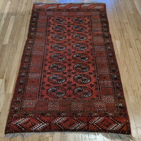 Bokhara Rug, 3' 5 x 6' 1 Red
