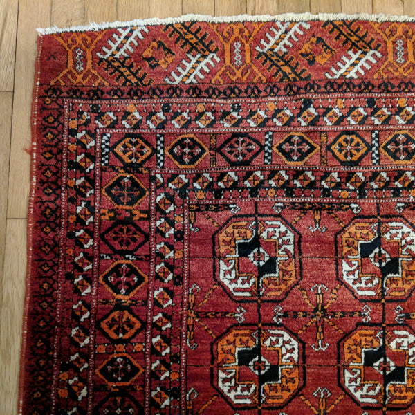 Bokhara Rug, 3' 11 x 5' 6 Red