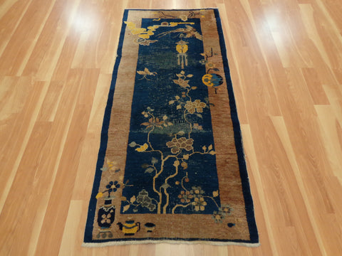 Chinese Rug, 2' 7 x 5' 10 Art Deco Peking