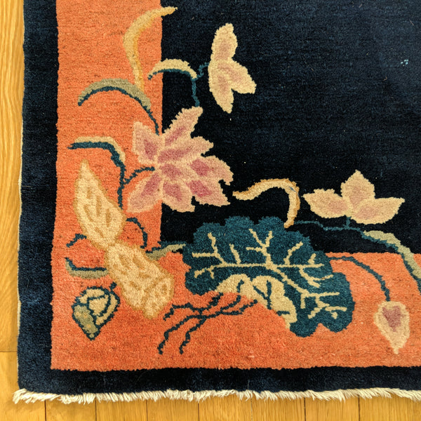 Chinese Rug, 2' 1 x 3' 11 Blue Art Deco - Jessie's Oriental Rugs