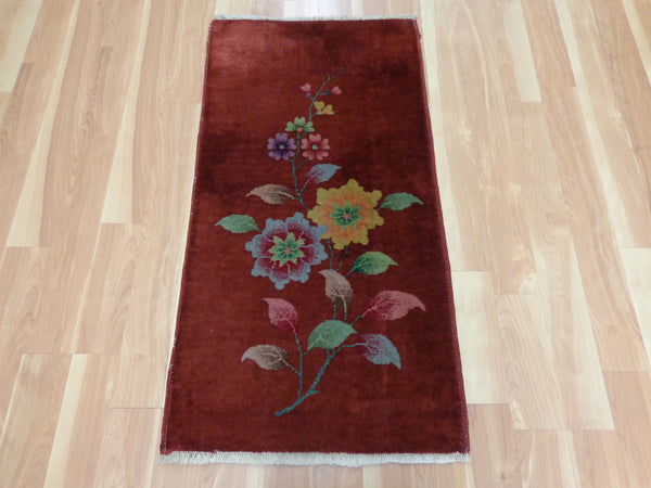 Chinese Rug, 2' x 3' 11 Brown Orange Nichols - Jessie's Oriental Rugs