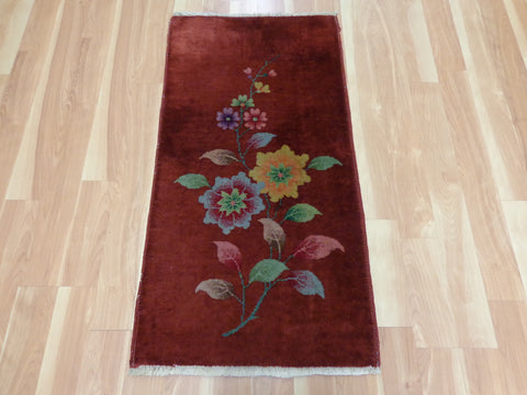 Chinese Rug, 2' x 3' 11 Brown Orange Nichols