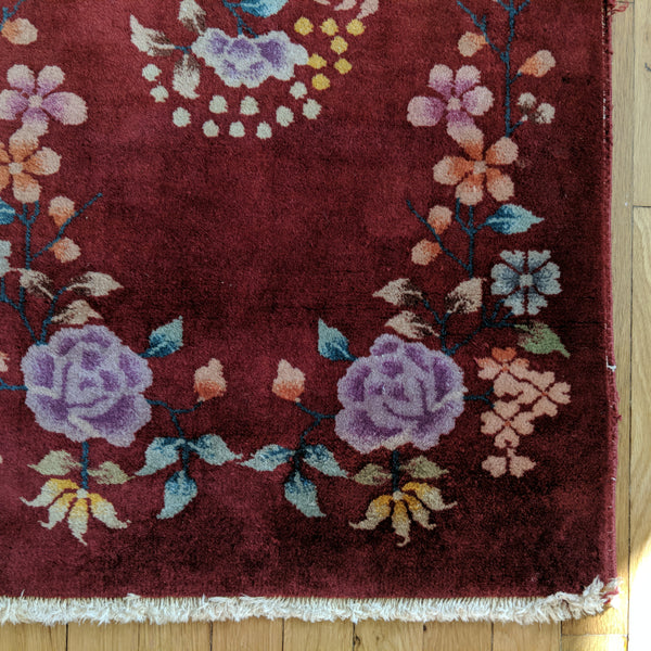 Chinese Rug, 2' x 3' 11 Red Orange - Jessie's Oriental Rugs