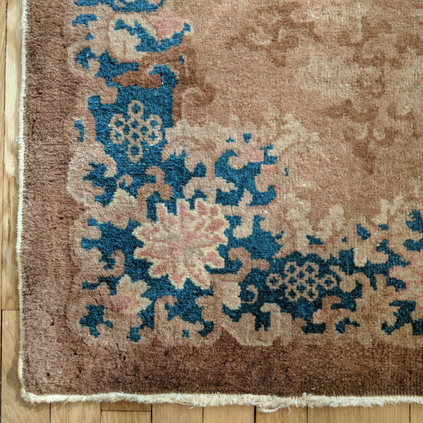Chinese Rug, 3' x 4' 11 Brown Art Deco - Jessie's Oriental Rugs