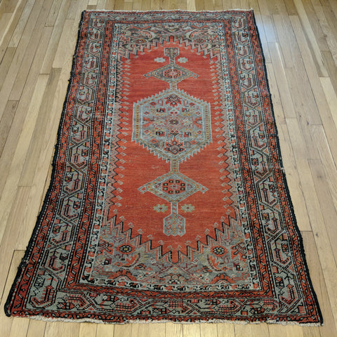 Persian Rug, 3' 8 x 6' 3 Antique Red Hamedan - Jessie's Oriental Rugs