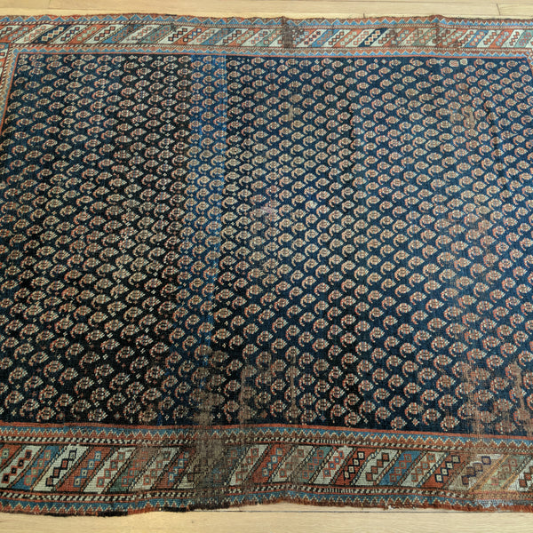 Antique Rug, 4' 9 x 5' 9 Blue - Jessie's Oriental Rugs