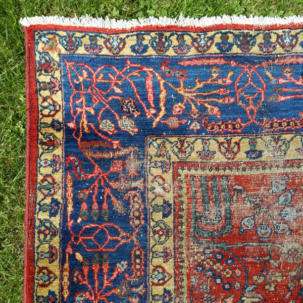 Antique Rug, 8' 5 x 9' 11 Red - Jessie's Oriental Rugs