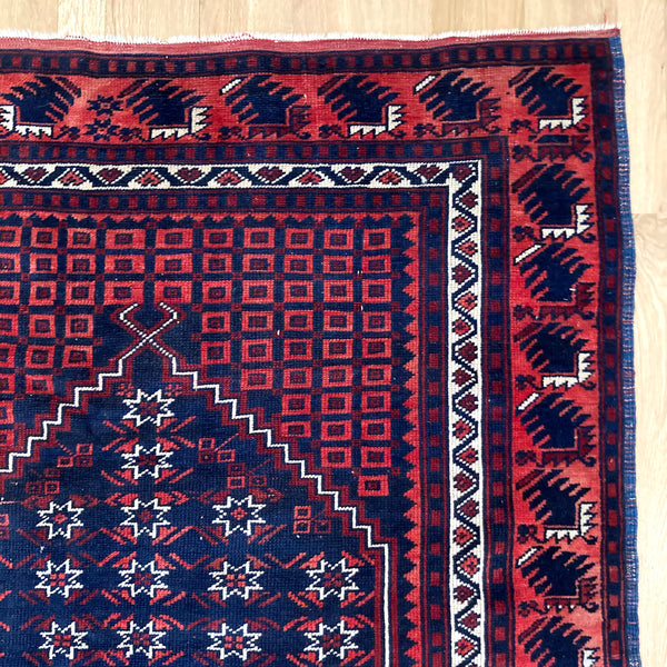 Turkish Rug, 3' 10 x 5' 11 Blue
