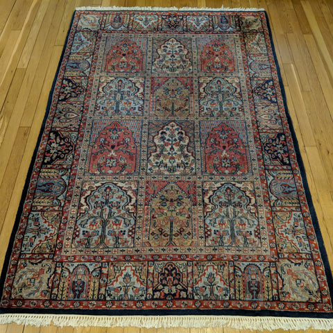 Indian Rug, 4' 2 x 6' 5 Grey - Jessie's Oriental Rugs