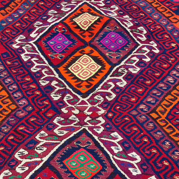 Turkish Rug, 2' 10 x 8' 4 Kilim
