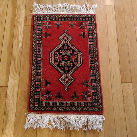 Mini Rug, 1' 4 x 2' 7 Red - Jessie's Oriental Rugs