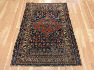 Persian Rug, 3' 7 x 5' Blue Melayer