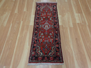 Persian Rug Runner, 1' 10 x 5' Red Hamedan