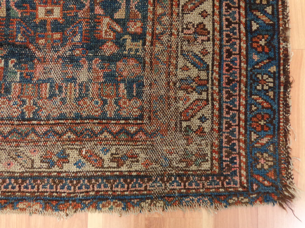 Persian Rug, 3' 7 x 5' Blue Melayer - Jessie's Oriental Rugs