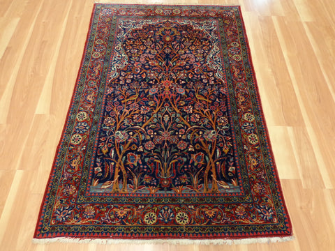 Persian Rug 3' 6 x 5' 2 Blue Kashan