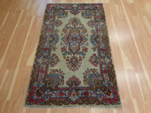 Persian Rug, 3' 2 x 5' 4 Cream Beige Kirman