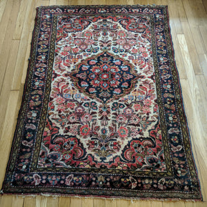 Persian Rug, 3' 6 x 4' 10 Ivory Borchelou - Jessie's Oriental Rugs