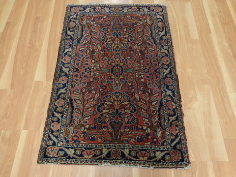 Persian Rug, 2' 8 x 4' Red Dergazine