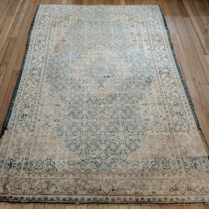 Persian Rug, 4' 6 x 6' 8 Light Blue