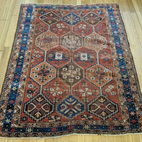 Persian Rug, 3' 11 x 5' Red Afshar