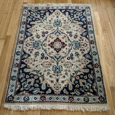 Persian Rug, 3' 1 x 4' 7 Blue Nain - Jessie's Oriental Rugs